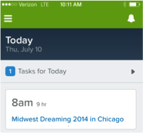 Salesforce1 Screenshot