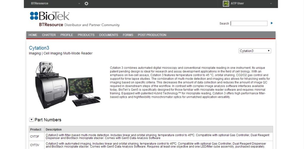 Product Page for BioTek Salesforce Communities by Luxent