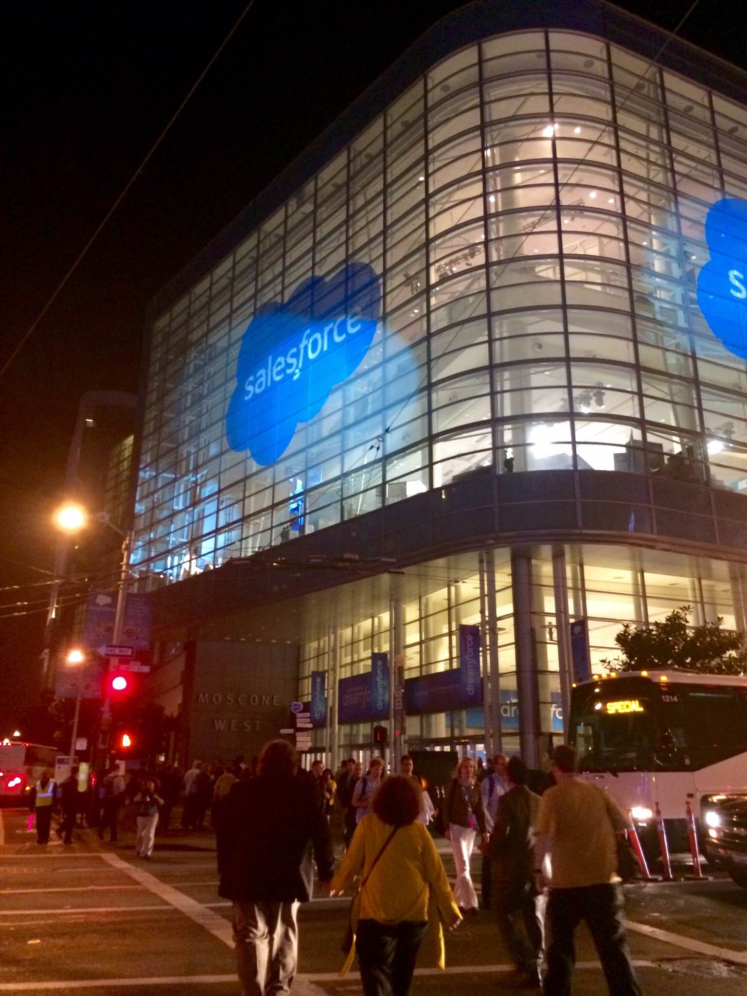 Dreamforce Building at Night