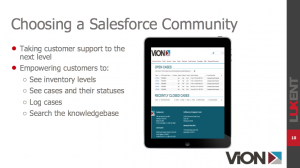 salesforce customer community case study